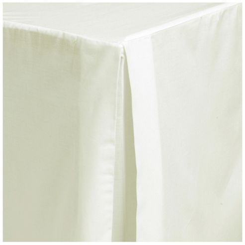 Tesco King Size Valance Sheet, Cream