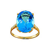QP Jewellers 8.0ct Blue Topaz Valiant Ring in 14K Gold