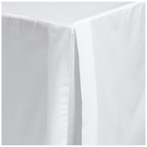 Tesco Double Valance Sheet, White