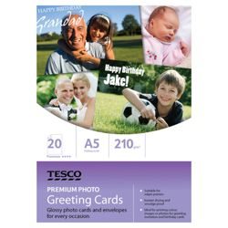 Tesco Premium photo greeting card - 20 Sheets