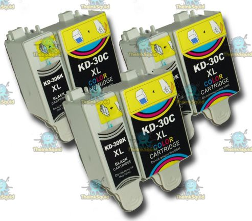 3 Sets of Kodak 30 XL (30B + 30CL) Compatible Ink Cartridges for ESP & Hero Printers