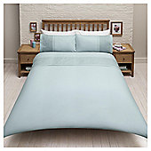 New Matelasse Print Double Duvet Set, Duck Egg - Duck egg blue