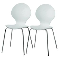 Pair of Bistro chairs, white