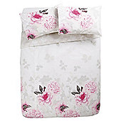 Tesco Sahara Floral Duvet Cover And Pillowcase Set, - Pink