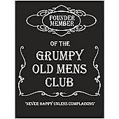 Grumpy Old Mens Club Metal Sign - 30x40cm