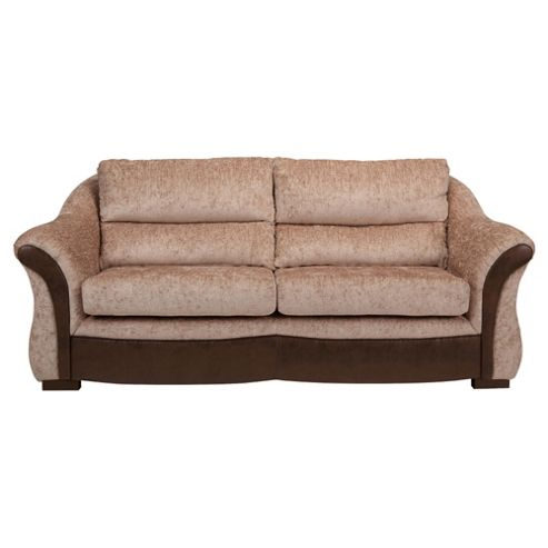 Windsor Fabric Large Sofa Mink & Chocolate