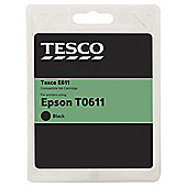 Tesco E242 Black Printer Ink Cartridge (Compatible with printers using Epson T0611 Cartridge)