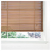 Wood Venetian Blind, 25Mm Slats, Oak Effect 60Cm
