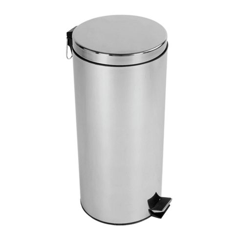 Tesco 30L Stainless Steel Pedal Bin With Stainless Steel Lid
