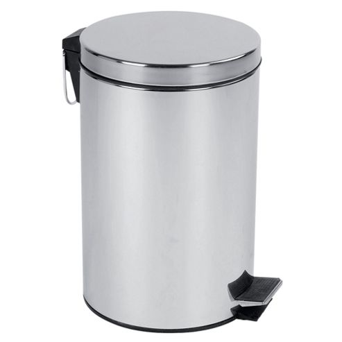 Tesco 12L stainless steel pedal bin