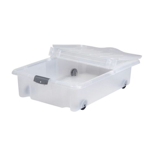 35L Under Bed Box With Lid, 2 Pack