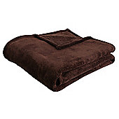 F&F Home Super Soft Throw - Chocolate