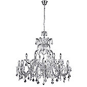 Large Chandelier Ceiling Light with Clear Crystal Decoration