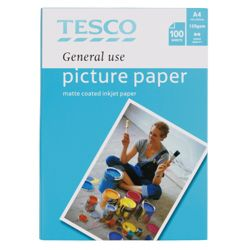 Tesco A4 general use Matte Photo Paper - 100 Sheets