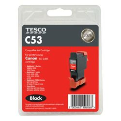 Tesco C53 Black Printer Ink Cartridge (Compatible with printers using Canon BCI-24BK Cartridge)