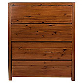 Anisha 4 Drawer Chest, Solid Wood