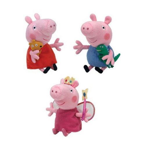TY Peppa Pig, Princess Peppa & George Beanie Babies