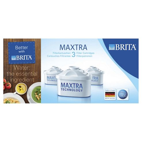 BRITA Maxtra Water Filter Cartridges, 3-Pack