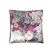 Pied A Terre Digital Print Floral Cushion, Purple