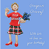 Holy Mackerel Greeting Card - Glorious granny Birthday, Anniversary card