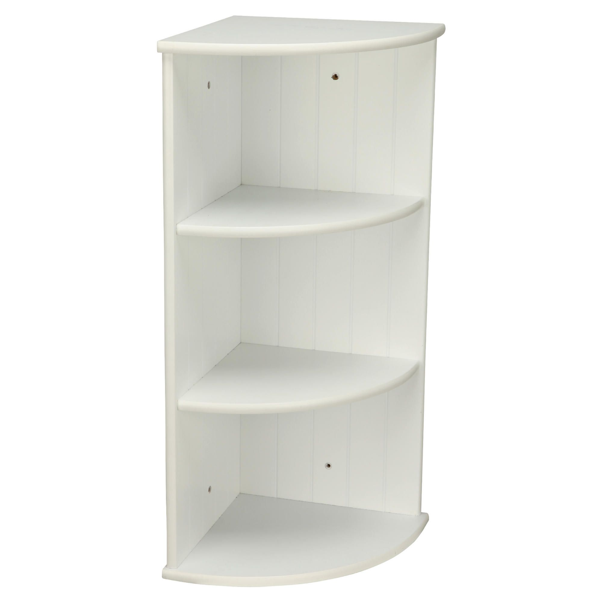 Home And Garden Bathroom Southwold White Wood Tongue Groove Style 3 Tier Wall Mounted