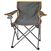 Tesco Folding Camping Chair, Grey