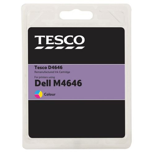 Tesco D24 Colour Printer Ink Cartridge (Compatible with printers using Dell M4646 Cartridge)