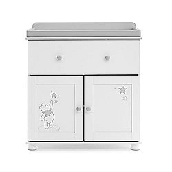 OBaby Winnie the Pooh Dreams & Wishes Changing Unit (White with Grey Trim)