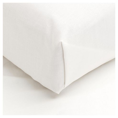 Tesco Flat Sheet Single - Cream