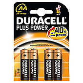 Duracell 15071649 Plus 4 pack AA Alkaline Batteries