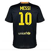 2013-14 Barcelona Third Shirt (Messi 10) - Black