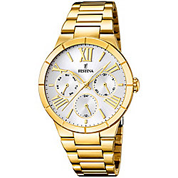 Festina Mademiselle Ladies Gold Gold Ion-plated Day & Date Watch F16717/1