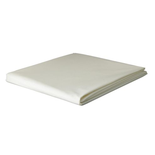 Tesco King Size Flat Sheet, Cream