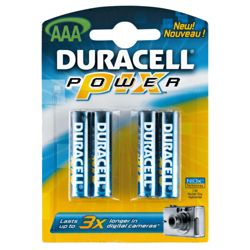 Duracell Powerpix 4 Pack AAA batteries