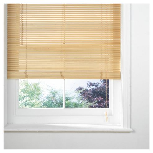 Wood Venetian Blind, 25mm Slats, Natural 60cm