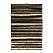 Think Rugs Oxford Black/Green Knotted Rug - 120 cm x 180 cm (3 ft 9 in x 5 ft 11 in)