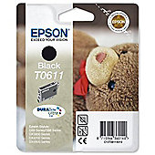 Epson T0611 printer ink cartridge - Black
