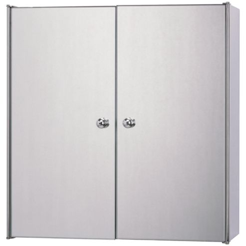 buy stainless steel mirrored double door bathroom cabinet