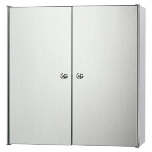 buy stainless steel mirrored double door bathroom cabinet from our