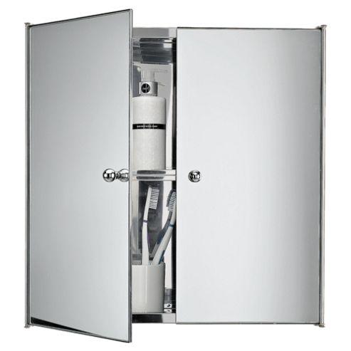 buy stainless steel mirrored double door bathroom cabinet