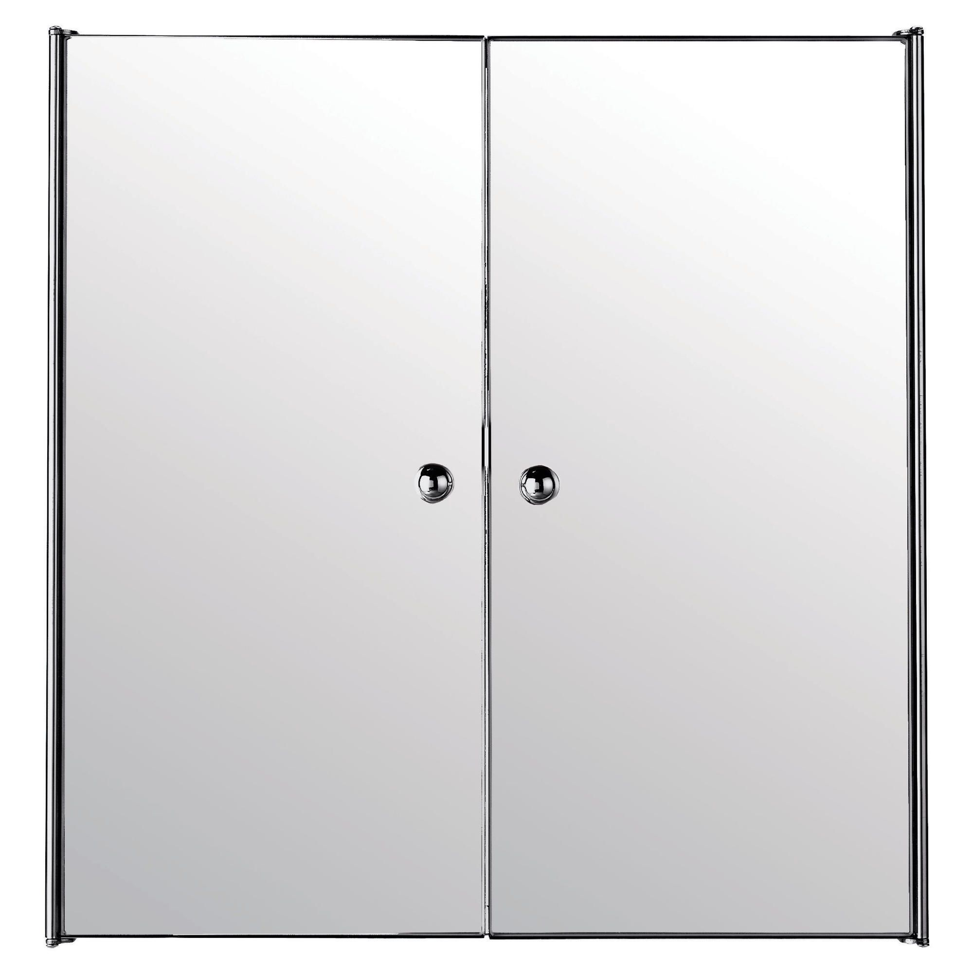 Other Stainless Steel Mirrored Double Door Bathroom Cabinet
