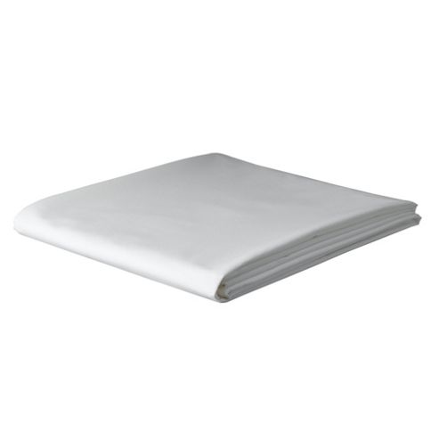 Tesco King Size Flat Sheet, White