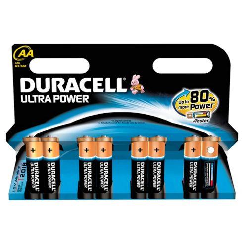 Duracell Ultra Power 8 Pack AA Batteries
