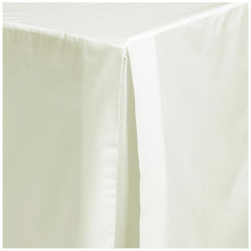 Tesco Double Base Valance Sheet, Cream