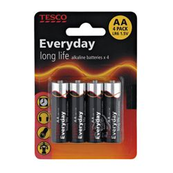 Tesco 4 Pack AA Batteries
