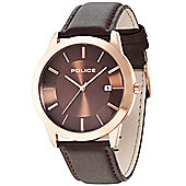 Police Sonoran Mens Leather Date Watch 14139JSR-12
