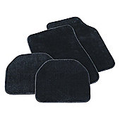 Tesco Car Mats 4 Set Luxury Carpet Black