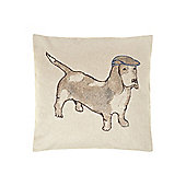 Dickins & Jones Bernie The Dog Printed Cushion - Cream