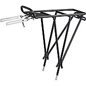 Acor 24-26inch Alloy Rear Pannier Rack. Black, With Spring Clamp & Reflector Bracket