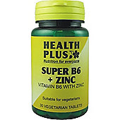 Health Plus Super B6 And Zinc 30 Veg Tablets
